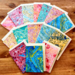 Marbled cards. £3 each or 5 for £12 (envelopes included) theconstantmarbler@gmail.com