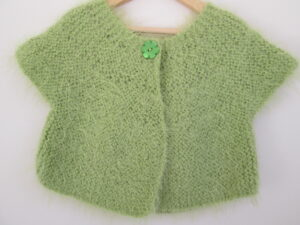 1 CH cardigan lime green