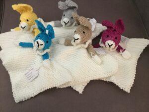 2 KR cuddly bunny blankies 1